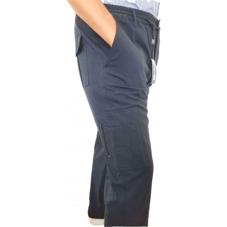 WORKER PANT WITH POCKETS AND ZIP, M819