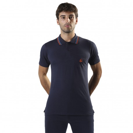 POLO JERSEY WITH POCKET AND EMBROIDERY, OVER SIZE, S157