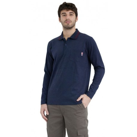 POLO SHIRT LONG SLEEVES WITH POCKET BIG SIZE, S183