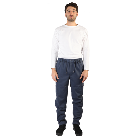 WINTER TWILL COTTON WORKER PANT WITH BRUSHED INSIDE, POCKETS AND ZIP, M902