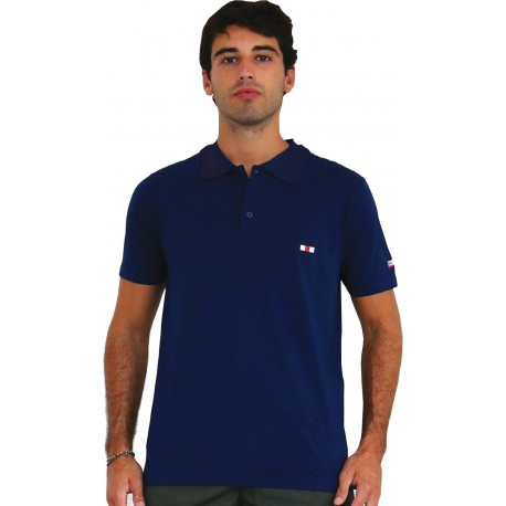 POLO JERSEY WITH POCKET AND EMBROIDERY, OVER SIZE S167